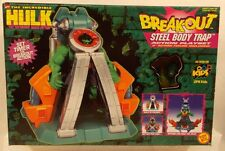 "The Incredible Hulk 1997 5"" Steel Body Trap Breakout Action Playset ToyBiz MISB"