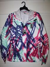 PUMA Women's Print Jacket  White Spectrum Blue Storm Cell Force 1 Size XL