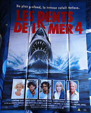Affiche cinéma : LES DENTS DE LA MER 4 : LA REVANCHE (1987) – Jaws : the revenge