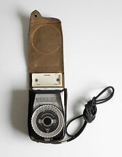 Old Vintage Leningrad 4 Photographic Light Meter in Leather Case