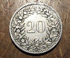 PIECE DE 20 RAPPEN SUISSE 1883 B (112)