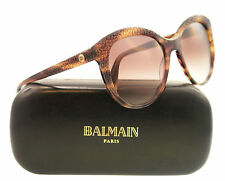New Balmain Sunglasses Cat eye BL 2028 Havana C02 Brown 56mm