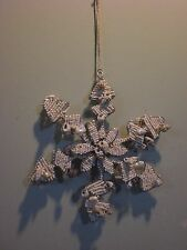 POTTERY BARN BEADED SEASHELL SNOWFLAKE ORNAMENT NEW WITHOUT TAG FREE SHIPPING