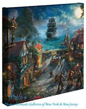 "PIRATES OF THE CARIBBEAN - Thomas Kinkade Disney 14"" x 14"" Gallery Wrap Canvas"