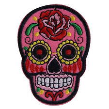 HOT Skull Flower Iron On Applique Embroidered Patch DIY Sewing Patch Sticker