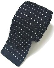 High Quality Men's Fashion Polka Dot Heart Knit Knitted Tie Slim Skinny Woven UK