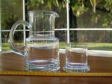 Tiffany & Co. Crystal Stacking Bedside Water Pitcher & Glass