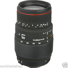 Sigma 70-300mm f/4-5.6 APO DG Macro Lens for Nikon AF-D-Free Shipping 11 pc kit