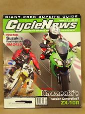 2008 Cycle News Magazine Motorcycle Dirt Street Bike Buyers Guide ZX-10R RM-Z450