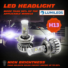 H13 180W 18000LM PHILIPS LED Headlight Kit High/Low Beam Bulbs 6500K High Power