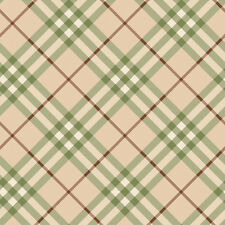 New Beamy Cream , Green, Red & White Checked Wallpaper