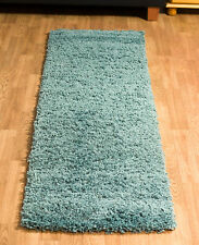SOFT THICK 5CM PILE MODERN SHAGGY RUNNER PLAIN RUG NON SHED HALL WAY RUNNERS