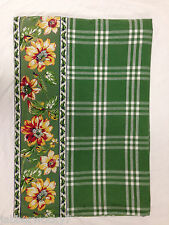 Williams - Sonoma TABLECLOTH  with Floral Border *Note Large Size 102 x 68