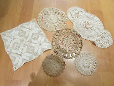 lot de 6 ancien napperons divers