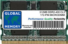 512MB DDR2 400MHz PC2-3200 172-PIN MICRODIMM MEMORY RAM FOR LAPTOPS/NOTEBOOKS