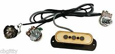 """Electric Delta"" 3-pole Cigar Box Guitar Pickup with Volume & Tone - 54-050-01"