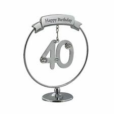 40th Birthday Gift - Crystocraft Celebration Ring with engraving SP451