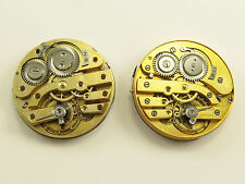 LOT OF 2 ANTIQUE POCKET WATCH MOVEMENTS with DIALS & HANDS
