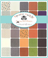 """Spooky Delight Charm Pack, Moda, Precut 5"""" Squares, Quilting, Halloween Fabric"""