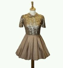 Gold sequined jones and jones dress