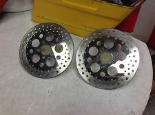 Harley Front Brake Rotors 00-07 Touring, Softail, Dyna Duel Disk 11.5""