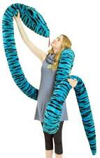 American Made 18 Foot Giant Stuffed Snake 216 Inches Long Soft Turquoise Plush