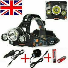 Quality 8000 Lumen 3x LED CREE XM-L T6 Headlamp Headlight Flashlight Head Light