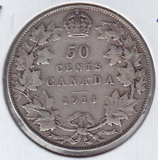 1911 Canada Fifty Cents Silver Coin
