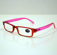 DOUBLEICE OCCHIALI GRADUATI DA LETTURA PRESBIOPIA RED/PINK +3,50 READING GLASSES