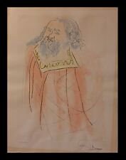 Salvador Dali King David Our Historical Heritage Hand-Signed Authentic Etchigs