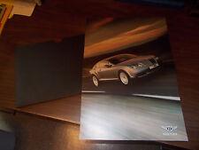 Bentley Continental GT Sales Brochure/Portfolio