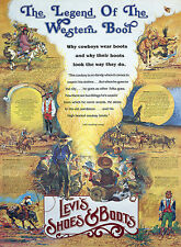 LEVI'S - THE LEGEND OF THE WESTERN BOOT ADVERTISING POSTER