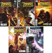 MARVEL ZOMBIES SUPREME (5) Issue comic SET #1 2 3 4 5 Marvel 1st print lot