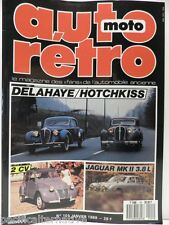 Revue AUTO RETRO moto magazine n° 101 janvier 1989 collection dalahaye hotchkiss