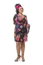 70er 80er Jahre Kleid Kostüm Flowerpower Damen Hippie Hippy Party Disco Catsuit
