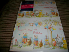 1 pkt of 2 sheets of childrens birthday wrapping paper