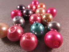 Plastic Faux Pearl Multi Round 11mm Beads 30pcs