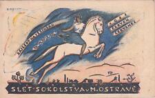 A8733) CECOSLOVACCHIA, SLET SOKOLSTVA M. OSTRAVE. VIAGGIATA.