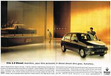 Publicité Advertising 1993 (2 pages) Renault Clio 1.9 Diesel