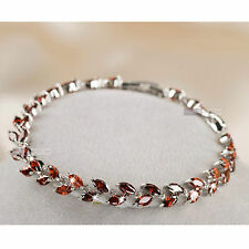 18k white gold gf SWAROVSKI crystal wedding party chain bracelet