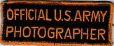 WW 2 Official US Army Photographer Off Uniform Patch Inv# SV176