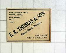 1957 Alan Thomas, Dairy Supplies, Queen Street Penzance Home-made Isis