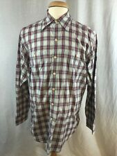 Polo Ralph Lauren L/S Plaid Shirt Men's Size Medium 100% Cotton 2 Pockets H10