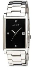 Accurist MB890DIA Men's Black Diamond Set Dial Date Watch, 2Yr Guar RRP £90.00