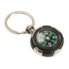 Survival Ruder Compass Pendant Keychain Outdoor Camping Hiking Key Ring