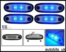 4X 24V LED SMD BLUE SIDE MARKER POSITION LIGHTS LAMPS TRUCK MAN DAF SCANIA VOLVO