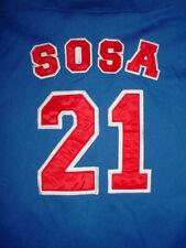 Mens Womens Chicago Cubs Sammy Sosa 21-Jersey Blue Button Down Baseball-Shirt-L