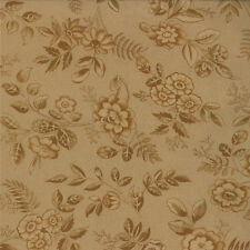 Moda Collections Love Tan Tonal Floral Civil War Historical Shabby Fabric BTY