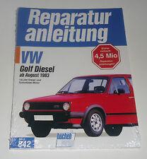 Reparaturanleitung VW Golf II / 2 Diesel TD Turbodiesel GTD, ab Baujahr 1983