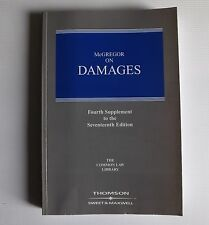 McGREGOR ON DAMAGES 4th Supplement To The Seventeenth Edition